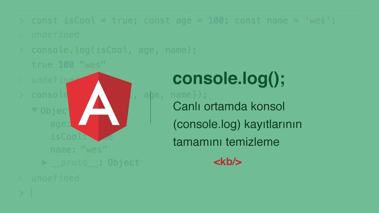 Angular'da canlı ortamda konsol (console.log) kayıtlarının tamamını temizleme