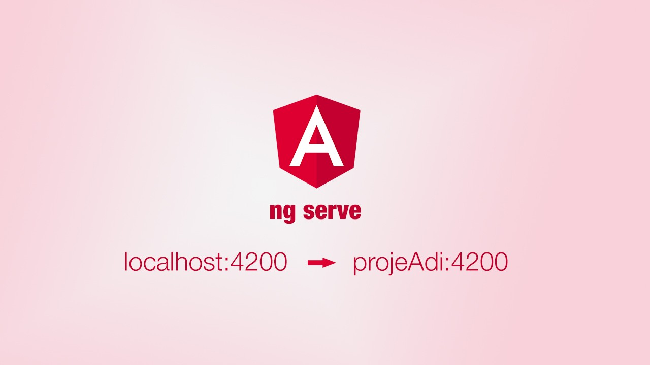 Angular ng serve host değiştirme (localhost to projectName)