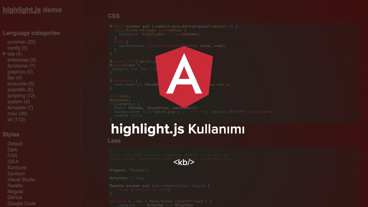 Angular'da highlight.js nasıl kullanılır?